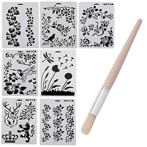 YNuth Malvorlagen verschiedene Motive Zeichnen Masken Schablone DIY Scenery Wiederverwendbar Painting Templates Set