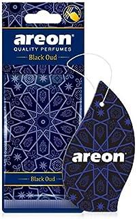 AREON Orient Lufterfrischer Auto Schwarzer Oud Duft Autoduft Orientalisch Anhänger Hängend Aufhängen Spiegel Pappe 2D Wohnung Set (Black Oud Pack x 3)