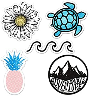 Cute Ocean/Beach Vinyl Laptop and Water Bottle Decal Sticker Pack, Made in US