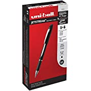 Uni-Ball 33921 Jetstream Ballpoint Pens, Bold Point (1.0mm), Black, 12 Count