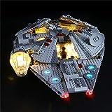 LODIY Kit de luz LED para Lego 75257 Star Wars Millennium Falcon Starship – Kit de iluminación compatible con Lego 75257 (no incluye modelo Lego)