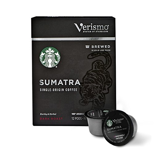Starbucks Dark Roast Verismo Coffee Pods — Sumatra for Verismo Brewers — 6 boxes (72 pods total)