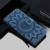 Qiaogle Téléphone Coque pour LG G3 Mini/LG G3s - Sun Flower Embossing PU Cuir Rabat Wallet Housse...