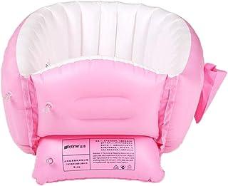 FLAMEER インフレータブル幼児浴槽 ベビーバスグッズ 旅行浴槽 折り畳み式 持ち運び便利 - ピンク