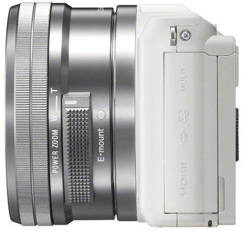 Sony Alpha 5000 Systemkamera (Full HD, 20 Megapixel, Exmor APS-C HD CMOS Sensor, 7,6 cm (3 Zoll) Schwenkdisplay) weiß inkl. SEL-P1650 Objektiv