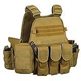 Gonex Gilet Tactique Militaire Gilet de Combat Veste Extérieure pour Airsoft Jeu CS Militaire...