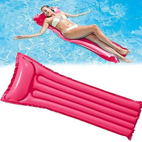 kunst für alle Wasser Hängematte-Aufblasbar Schwimmring Schwimmende Reihe Pool Lounge Stuhl Luftmatratze Pool-Float-Wassersofa Pool Floß Erwachsenes Kind Wasser Spaß… (Rosa)