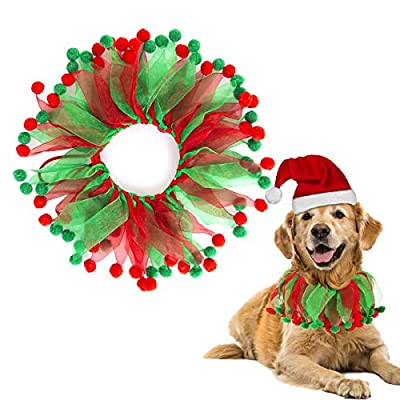 Pet Collar Christmas Decorative Collar Accessories for Cats Dogs,Pet Party Festival Ornaments - Best Gift to Your Lovely Pet