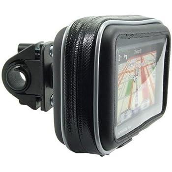 Magellan eXplorist TomTom RIDER /& Phones USA GEAR GRMMBM110BKEW Fits 4.5-6.75 Inch Units for Garmin n/üvi 42LM // 40LM // Zumo 660LM Motorcycle GPS Mount Bike Handlebar Waterproof Touch Case w// 360 Degree Viewing