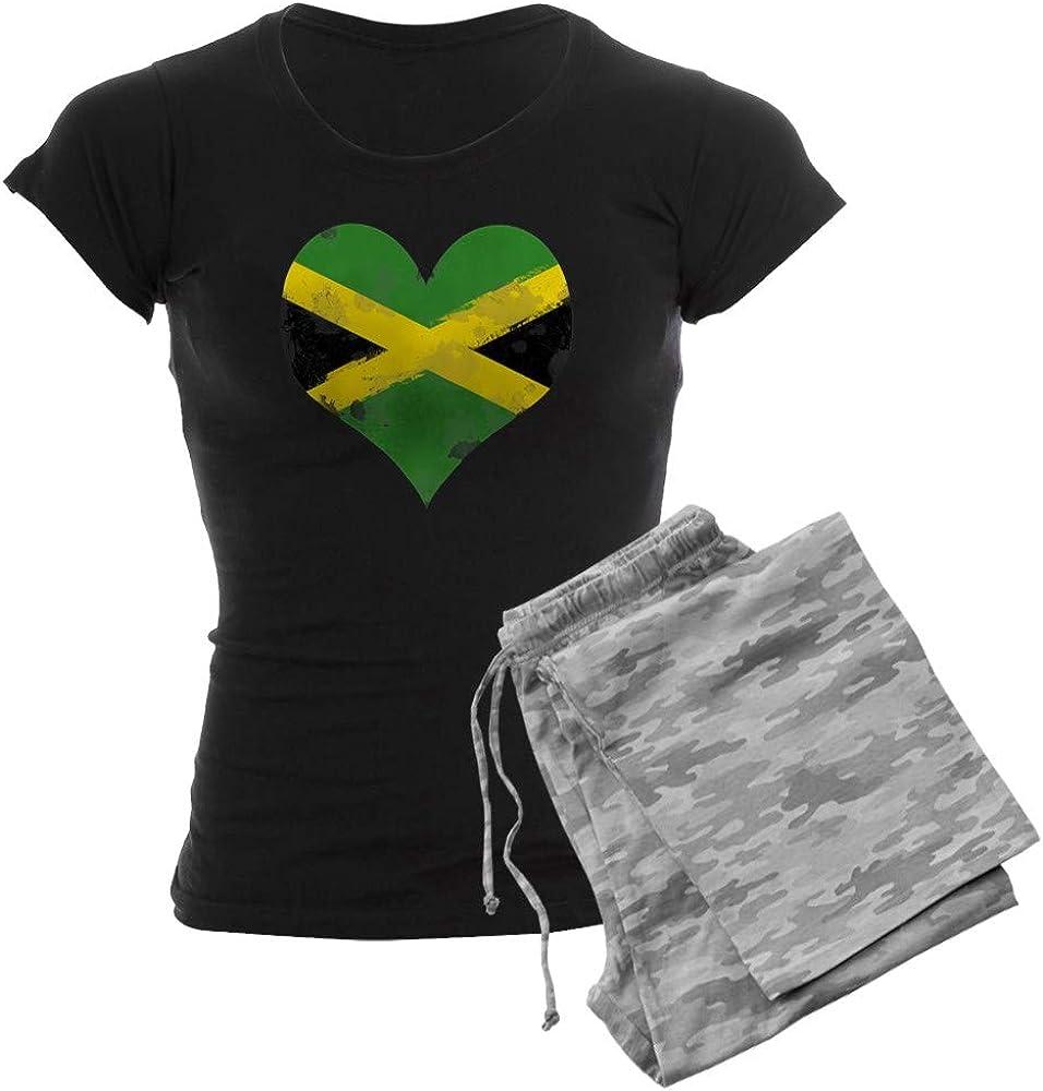 CafePress A Free shipping / New Jamaican Heart Women's Dark Pajamas Regular discount PJs