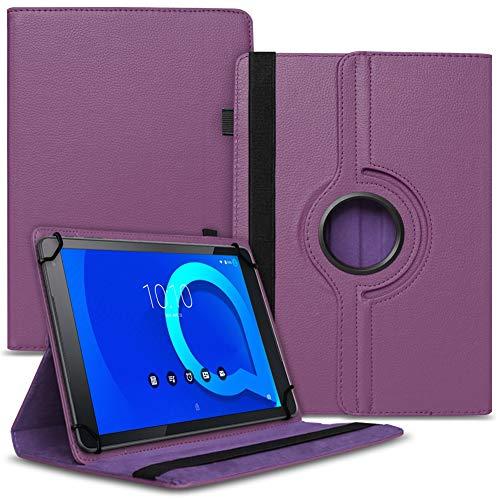 Tablet Hülle kompatibel für Alcatel 1T 10 Tasche Schutzhülle Hülle Schutz Cover 360° Drehbar 10.1 Zoll Etui, Farbe:Lila