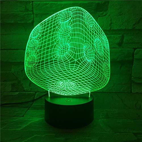 Creatieve geschenken acryl kubus tafellamp 7 kleuren veranderende bureaulamp 3D LED nachtverlichting met USB-kabel