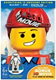 The LEGO Movie: Everything is Awesome Edition (Blu-ray + DVD + Exclusive Minifigure + Exclusive Content + Bonus Blu-ray