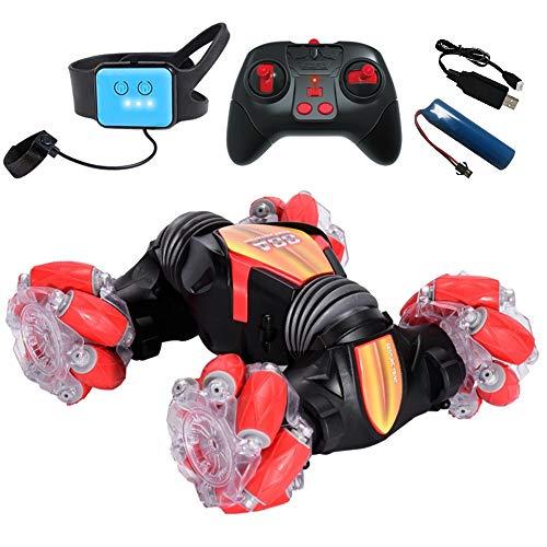 Pvnoocy 4WD Ferngesteuertes Auto für Kinder,RC Car mit 2,4 Ghz Fernbedienung,High Speed,360° Flip Spielzeugauto Fahrzeug Outdoor und Indoor für Jungen und Mädchen