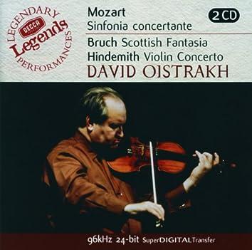Mozart: Sinfonia Concertante/Bruch: Scottish Fantasia; Hindemith: Violin Concerto