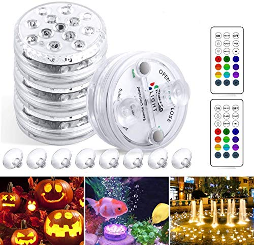 StillCool Unterwasser Licht Unterwasserbeleuchtung Multicolor RGB Controller Leuchte Deko Licht für Garten, Aquarium, Vase, Badewanne, Pool oder Spa (13 LED bunt)