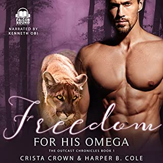 Freedom for His Omega audiobook cover art