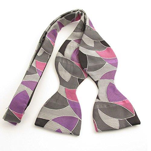 Van Buck England - Nœud papillon - Homme Grey, White, Purple and Pink Taille Unique