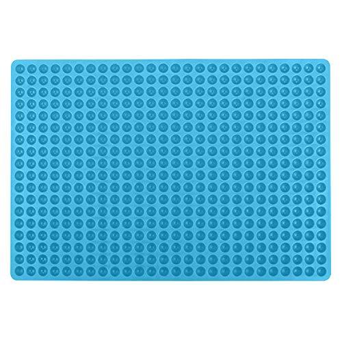 AODOOR Silikon Backmatte, 1.2cm Halbkugel Silikonmatte mit Noppen, 468 Mini Backform für Hundekekse & Hundeleckerlies, Hitzebeständig & Lebensmittelecht, Bpa-frei - Blau