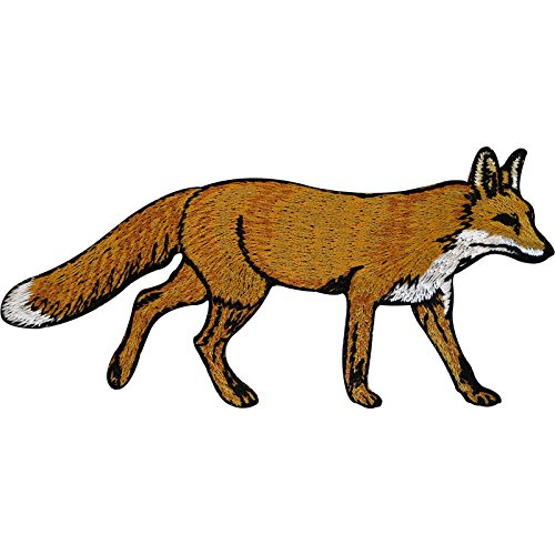 Fox hierro bordado en insignia Sew On patch Animal ropa bordado Applique