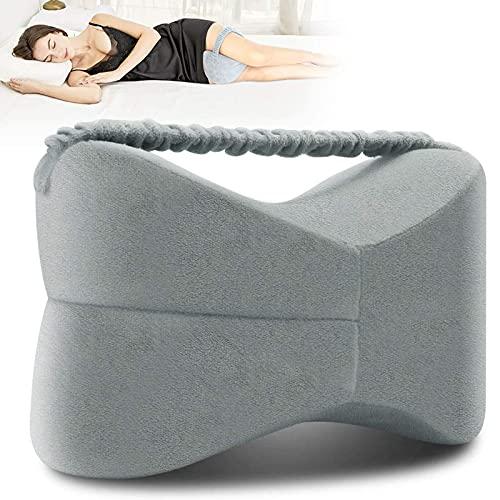 Almohadas para las rodillas, almohadas para las piernas, almohadas para las piernas con espuma viscoelástica para dormir con fundas de almohada lavables y elasticidad para aliviar el dolor y la inco