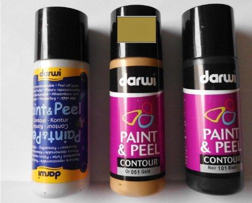 Darwi Paint & Peel Contur - Colore contorno 80 ml Oro 051
