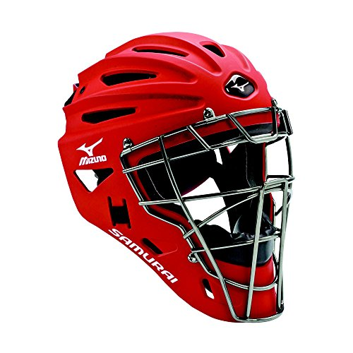 Mizuno G4 Samurai Catcher's Helmet, Red