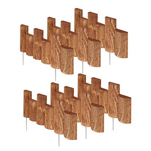 Greenes Fence 18 in. Half Log Edging (6 Pack)