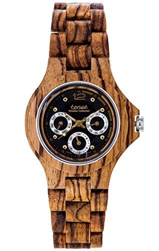 TENSE Wood Watch Mens Northwest Uomo Madera zebrato G4300Z
