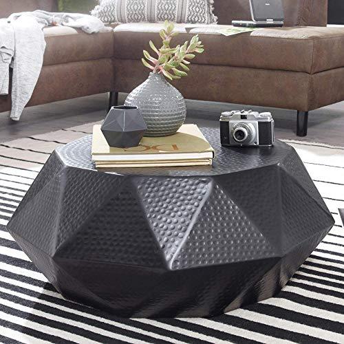 Mesa de centro negra de aluminio