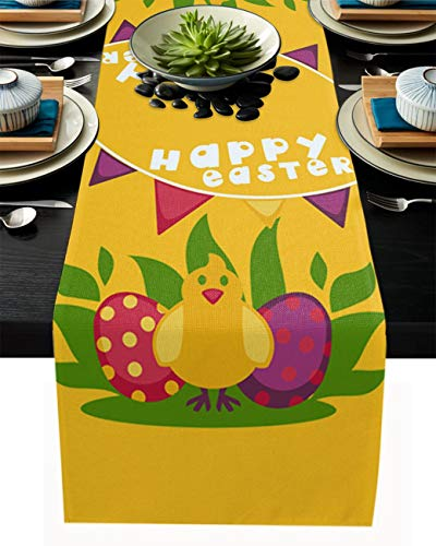 Easter table runner decorations, place mats table decoration, Easter bunny, Easter egg table runner, table cloth, embroidery table decoration, table cloth, table cover, table decoration, spring E