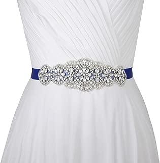 Azaleas Women's Crystal Wedding Belt Sashes Bridal Sash Belt for Wedding