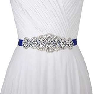 Women's Crystal Wedding Belt Sashes Bridal Sash Belt for Wedding
