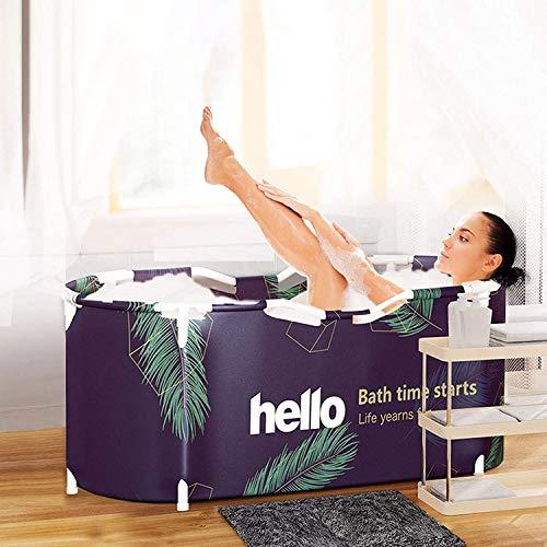 BCXGS Tina portátil para Adultos, bañera Plegable, Tina de hidromasaje respetuosa con el Medio Ambiente para Cabina de Ducha, Engrosamiento con Espuma térmica para Mantener la Temperatura
