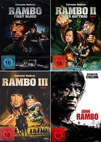 Rambo 1-4 alle Teile dvd Set, Bundle, FSK18 in Deutsch