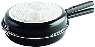 MGE World - Doble Sartén Voltea Tortillas - Vitro-Inducción - Diámetro 24 cm - Negra
