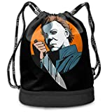 RTFGH Halloween-Michael Myers Bolso de hombro original multifunción Patrón de mochila de cuerda de...