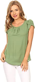 Best sage green blouse Reviews