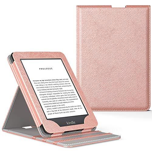 MoKo All-New Kindle (10th Generation, 2019) / Kindle (8th Generation, 2016) Custodia, Case Origami Verticale (Con Auto Sonno/Sveglia) - Oro Rosa