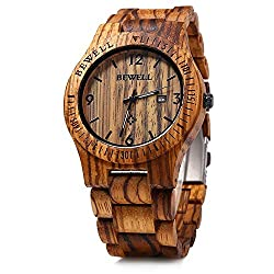 mens wooden watch boho style