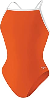 Speedo Girls' One Piece Swimsuit - Solid Flyback Training Suit – Manufacturer Discontinued