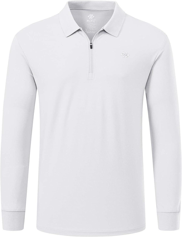 Ultra-Cheap Deals MoFiz Men's Golf Shirt 1 4-Zip Same day shipping Polo Sleeve Quick Long Dry