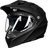 ILM Off Road Motorcycle Dual Sport Helmet Full Face Sun Visor Dirt...