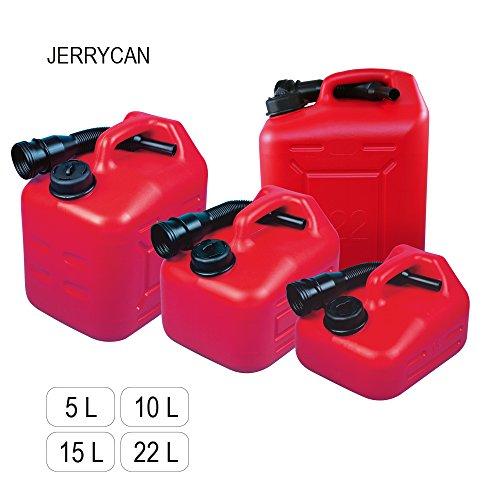 Serbatoio molto practico 'JERRYCAN' con volume 5, 10, 15 o 22 l, con un beccuccio, HDPE in polietilene
