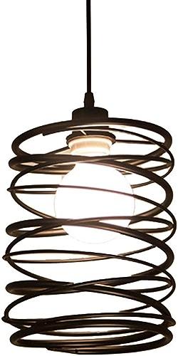 YIKUI Lumière pendentife, Cercle Et Abat-Jour en Métal Lampe Moderne, 19X19x24cm, 1  E27, Efficacité énergétique A + +