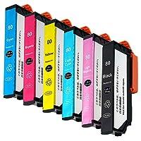 エプソン用 IC80L-(BK/C/M/Y/LC/LM)【リサイクル】増量6本セット リサイクルインクカートリッジ 残量検知機能付き(純正ICチップ付) 『納得の安心保証付き』 ※非純正インク【Color Shop製品】