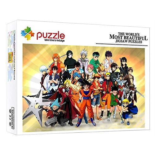 ZTCLXJ 1000 Piezas Puzzle Rompecabezas 1000 Piezas para Niños Puzzle Anime Naruto Dragon Ball para Adultos Niños Educativos para Bebé para Regalo De Año Nuevo De Vacaciones De Invierno 52 × 38 Cm
