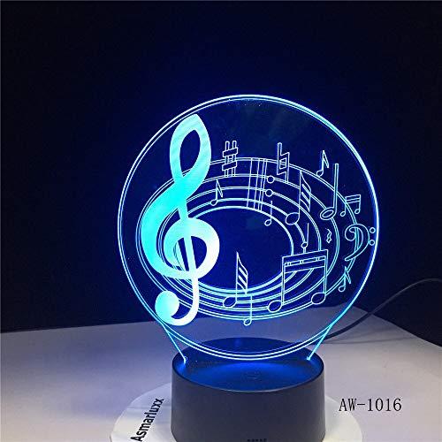 jiushixw 3D acryl nachtlampje met afstandsbediening kleur tafellamp romantische notities glanzend kinderen zwart en chroom tafellamp