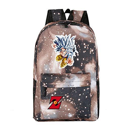 Mylxdn Dragon Ball School Backpack School Bag Student Stylish Unisex Canvas Laptop Lightweight
