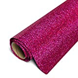 Siser Glitter HTV 12'x3ft Roll (Hot Pink) Iron on Heat Transfer Vinyl
